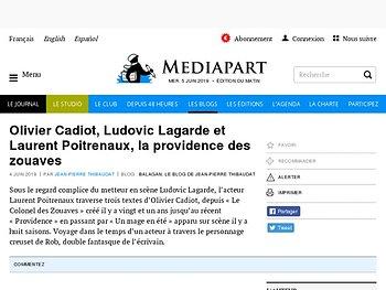 Olivier Cadiot, Ludovic Lagarde et Laurent Poitrenaux, la providence des zouaves