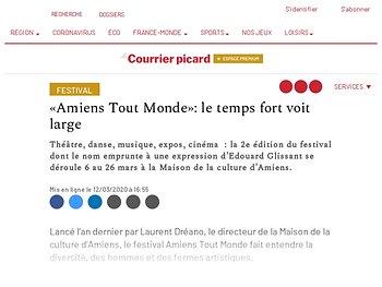 «Amiens Tout Monde»: le temps fort voit large