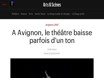 A Avignon, le théâtre baisse parfois d'un ton