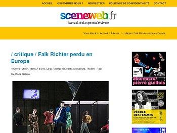 Falk Richter perdu en Europe