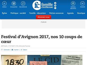 Notre sélection de dix pièces à voir en famille au Festival d'Avignon 2017