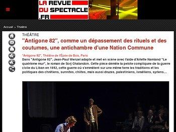 """""""Antigone 82"""", comme un dépassement des rituels et des coutumes, une antichambre d'une Nation Commune"""