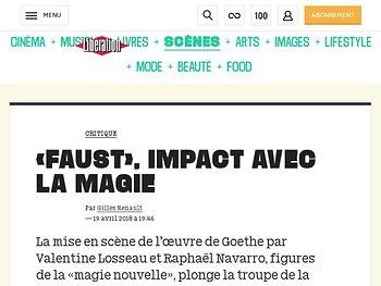 «Faust», impact avec la magie