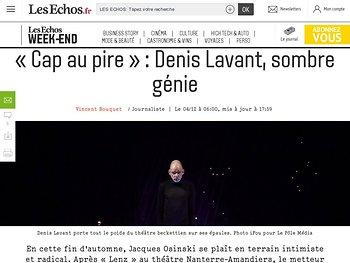 «Cap au pire»: Denis Lavant, sombre génie