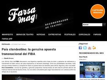 País clandestino: la genuina apuesta transnacional del FIBA