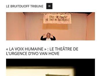 «La Voix humaine» : le théâtre de l'urgence d'Ivo van Hove