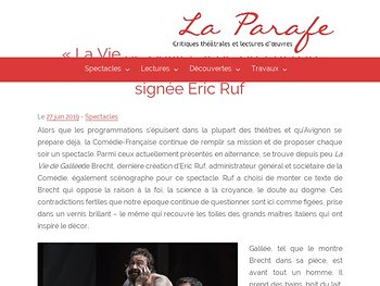 Huile sur toile signée Eric Ruf