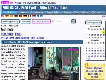 Le sombre Petit Eyolf d'Ibsen vu par Julie Berès