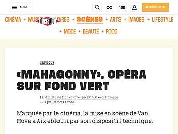 «Mahagonny», opéra sur fond vert