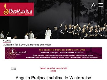 Angelin Preljocaj sublime le Winterreise de Schubert