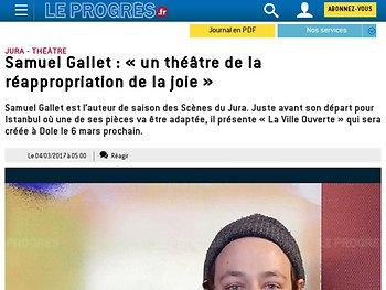 Samuel Gallet : « un théâtre de la réappropriation de la joie »
