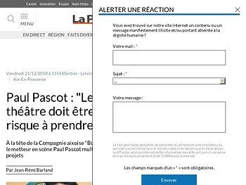 """Paul Pascot: """"Le théâtre doit être un risque à prendre"""""""