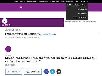 """Simon McBurney : """"Le théâtre est un acte de retour rituel qui se fait toutes les nuits"""""""