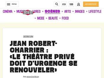Jean Robert-Charrier : «Le théâtre privé doit d'urgence se renouveler»
