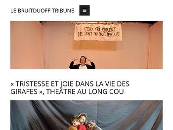 «Tristesse et joie dans la vie des girafes», théâtre au long cou