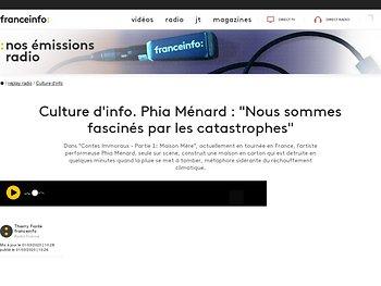 """Phia Mennard : """"Nous sommes fascinés par les catastrophes"""""""