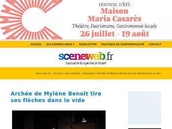 Archée de Mylène Benoit tire ses flèches dans le vide