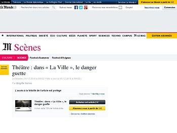 Dans «La Ville», le danger guette