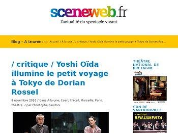 Yoshi Oïda illumine le petit voyage à Tokyo de Dorian Rossel