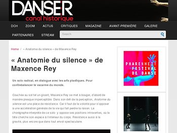 «Anatomie du silence» de Maxence Rey