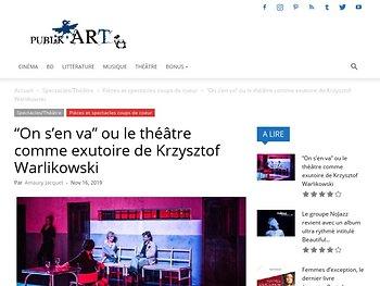 """""""On s'en va"""" ou le théâtre comme exutoire de Krzysztof Warlikowski"""