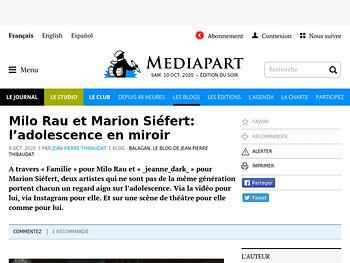 Milo Rau et Marion Siéfer t: l'adolescence en miroir