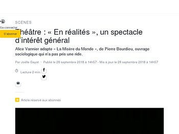 «En réalités», un spectacle d'intérêt général