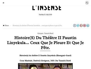 Histoire(s) du théâtre II… ceux que je pleure et que je fête.