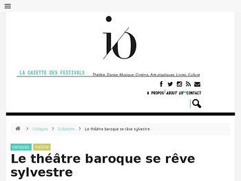 Le théâtre baroque se rêve sylvestre