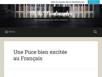 Une Puce bien excitée au Français