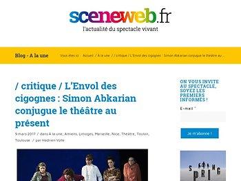 L'Envol des cigognes : Simon Abkarian conjugue le théâtre au présent