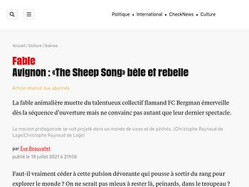 «The Sheep Song» bêle et rebelle