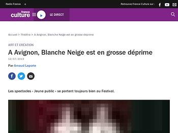 A Avignon, Blanche Neige est en grosse déprime