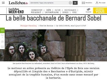 La belle bacchanale de Bernard Sobel