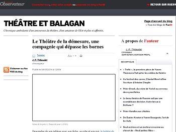 Le Théâtre de la démesure, une compagnie qui dépasse les bornes