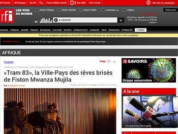 «Tram 83», la Ville-Pays des rêves brisés de Fiston Mwanza Mujila