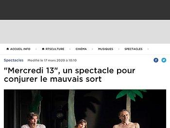 """""""Mercredi 13"""", un spectacle pour conjurer le mauvais sort"""