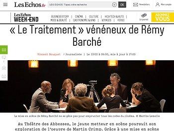 «Le Traitement» vénéneux de Rémy Barché