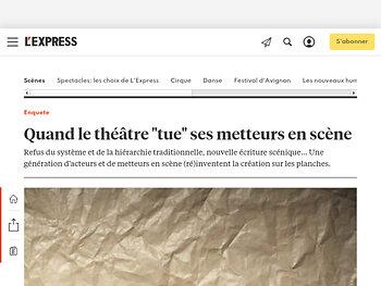 """Quand le théâtre """"tue"""" ses metteurs en scène"""