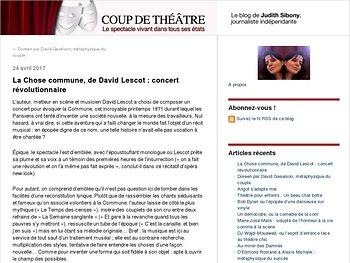 La Chose commune, de David Lescot : concert révolutionnaire