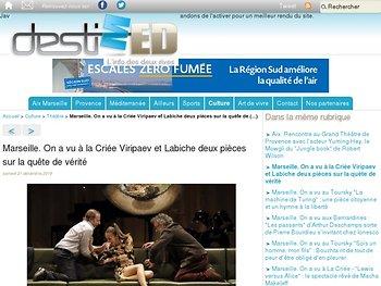 On a vu à la Criée Viripaev et Labiche deux pièces sur la quête de (...)