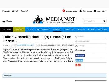 Julien Gosselindans le(s) tunnel(s) de «1993»