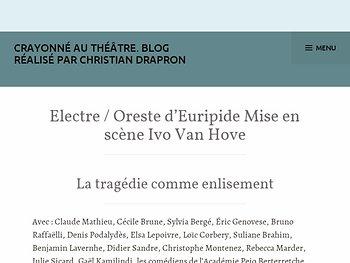 Electre / Oreste: la tragédie comme enlisement...