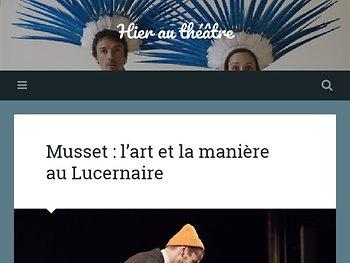 Musset : l'art et la manière au Lucernaire