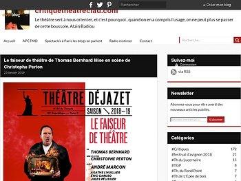 Le faiseur de theatre - Amour ou Haine ?