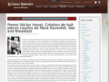 Promo Václav Havel, Création de huit pièces courtes