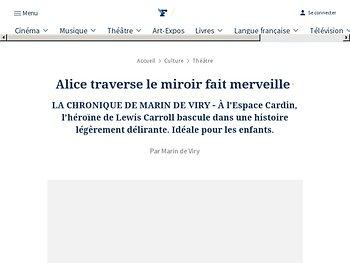 Alice traverse le miroir fait merveille