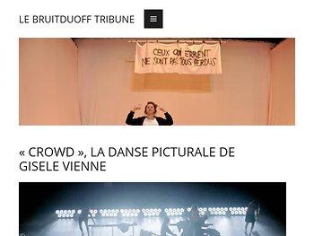 «Crowd», la danse picturale d e Gisèle Vienne