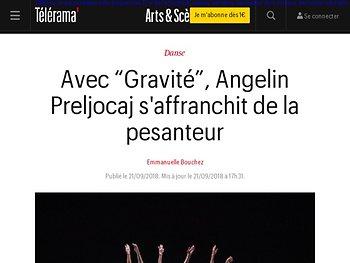 """Avec """"Gravité"""", Angelin Preljocaj s'affranchit de la pesanteur"""
