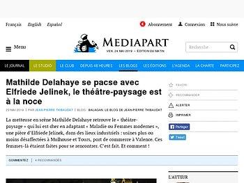 Mathilde Delahaye se pacse avec Elfriede Jelinek, le théâtre-paysage est à la noce